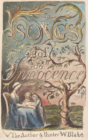 Title page to William Blake's Songs of Innocence.