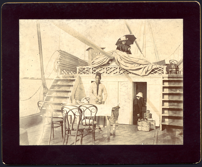 On board the Sesostris, Egypt, 1893