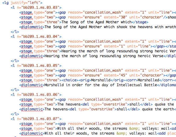 Screenshot of XML markup.