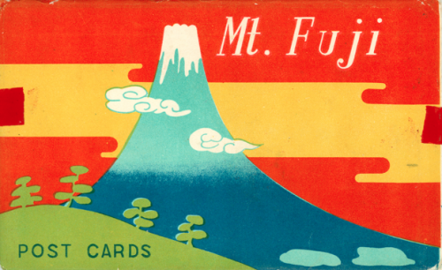 Envelope for Mt. Fuji postcard set.