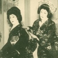1043. Nakamura Utaemon V and Onoe Baikō VI  in the Kabuki play Twenty-four Paragons of Filial Piety (Imperial Theater, Nov. 1916)