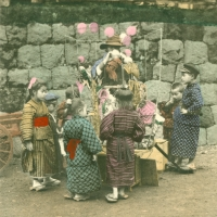 1070. A Japanese Toy Gum-Balloon Seller
