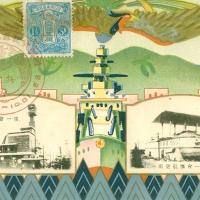 3558. Kobe 1930 Seaport Exposition Naval Review Commemorative Postcard