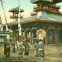 3557. A Street Scene in Fair Japan, Japan-British Exhibition, London, 1910