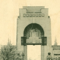 1230. Tokyo Taisho Exhibition (1914), a main entrance