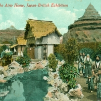 3397. In the Aino Home, Japan-British Exhibition (London, 1910)