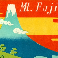 1522. Envelope, Mt. Fuji postcard set