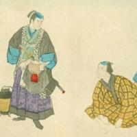 1342. Two samurai and a merchant