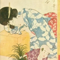1346. Utamaro - Child Upsetting a Goldfish Bowl