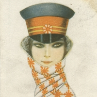 3151. Postcard signed by the artist (Nanni), 1909