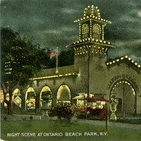 2101. Night Scene at Ontario Beach Park, NY