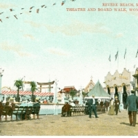 36. Revere Beach, Mass.  Theatre and Boardwalk, Wonderland Park