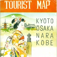 3531. Tourist Map Kyōto, Ōsaka, Nara, Kōbe
