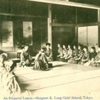 1478. An Etiquette Lesson - Margaret K. Long's Girls' School, Tokyo