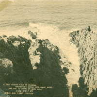 3285. Tojinbo, Famous Place at Hokuriku. Magnificent Nippon Seas Angry Waves are Bite to Foots of Rock Wall
