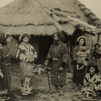 1968.  A Group of Pure-blooded Japanese Aborigines - Ainus on the Island of Hokkaido (n.d.)