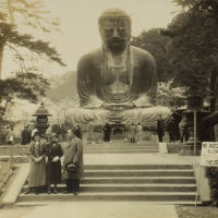 1976. The Colossal Daibutsu in Cherry-Blossom Time (n.d.)