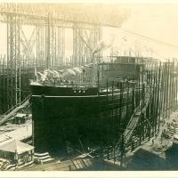 3369. Mitsubishi Shipbuilding Yard (building the S.S. Katori maru)