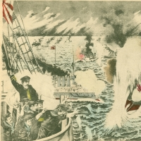 2827. The Russian fleet was destroyed by the Japanese fleet at Port Arthur