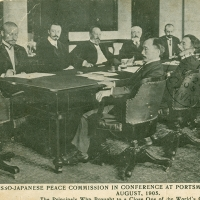 2826. Russo-Japanese Peace Commission in Conference at Portsmouth Navy Yard U.S.A., August  1905 (Peace Commission Post Card