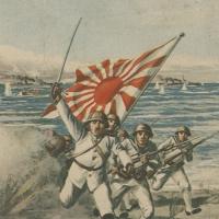 3155. Landing ashore and facing the enemy under a hail of bullets (artwork by Sakuzō Itō)