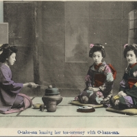3136. O-take-san learning her tea ceremony with O-hana-san (5)