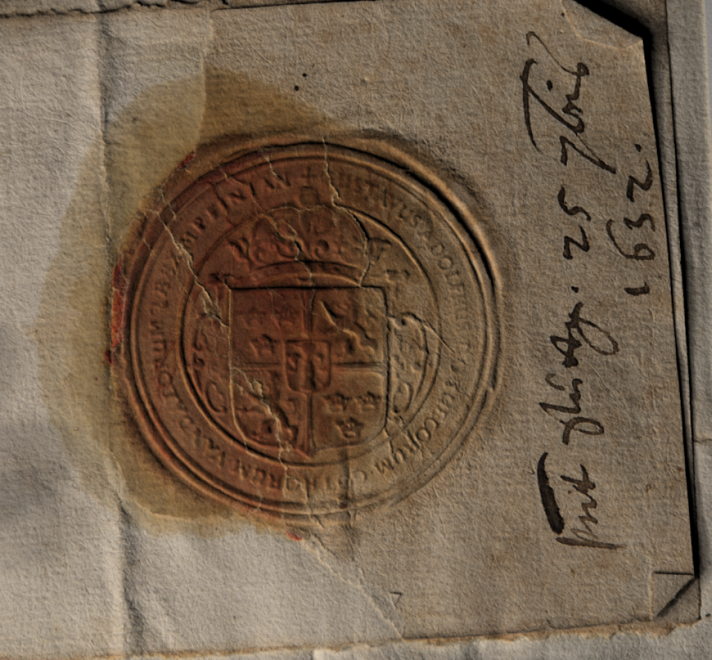Using light at a rake and increasing contrast on the seal reveals a level of detail otherwise hidden.