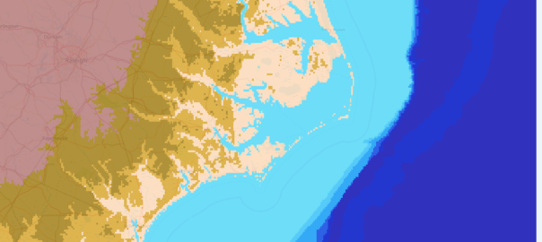 Outer Banks with current sea level